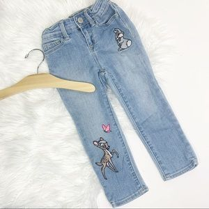 DISNEY Bambi & Thumper Embroidered Jeans 3T